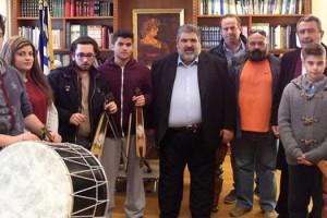 Κάλαντα στον Αντιπεριφερειάρχη Περιφερειακής Ενότητας Κοζάνης Παναγιώτη Πλακεντά