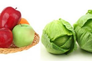 Πορτοκάλια μήλα λάχανα