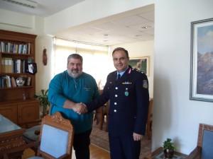 Με τον Ταξίαρχο Παναγιώτη Ντζιοβάρα, συναντήθηκε ο Αντιπεριφερειάρχης Π.Ε. Κοζάνης Παναγιώτης Πλακεντάς στα πλαίσια εθιμοτυπικής επίσκεψης