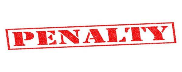 penalty - πρόστιμο