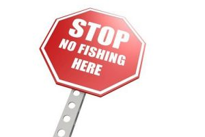 stop no fishing here