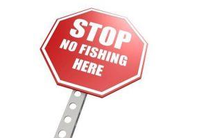 stop no fishing here