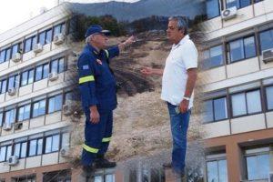 Ο Αντιπεριφερειάρχης της Π.Ε. Κοζάνης συγχαίρει τους Πυροσβέστες, για την κατάσβεση της φωτιάς στα Λεύκαρα