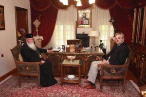 Επίσκεψη του Αντιπεριφερειάρχη ΠΕ Κοζάνης στον Σεβασμιώτατο Μητροπολίτη Σερβίων - Κοζάνης