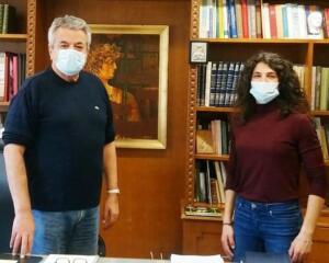 Επίσκεψη της Πρωταθλήτριας Ελλάδος στο Έπταθλο Στέλλας Τζικανούλα στον Αντιπεριφερειάρχη Κοζάνης