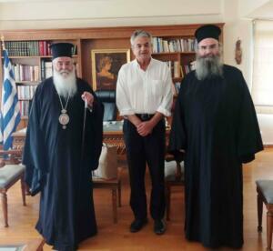 Επίσκεψη του Σεβασμιωτάτου Μητροπολίτη Σερβίων και Κοζάνης κ.κ. Παύλου στον Αντιπεριφερειάρχη Π.Ε. Κοζάνης